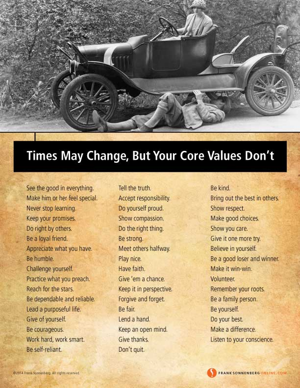 Times May Change, But Your Core Values Don't