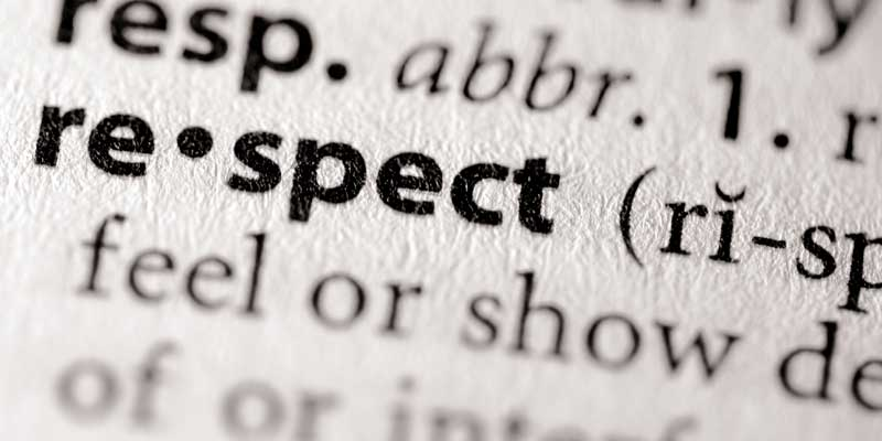 respect, earn respect, how to earn respect